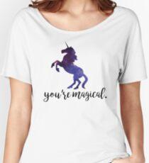 Eres mágico - Unicornio Camiseta ancha