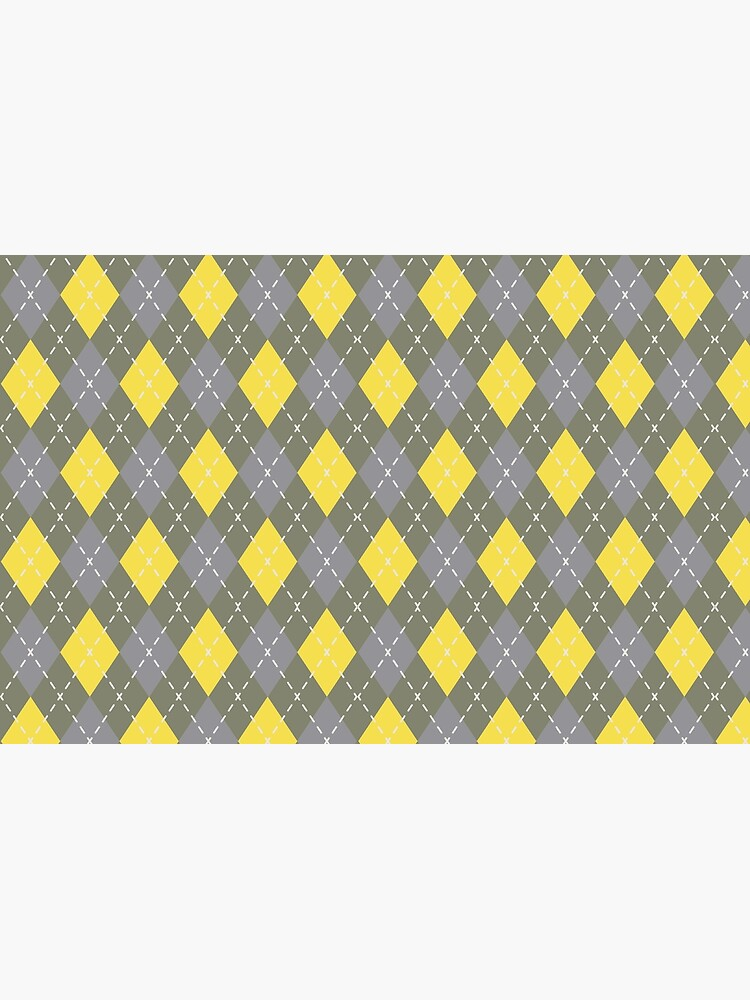 Yellow Gray Green Argyle Pattern Pantone 2021 Color of the Years and Accent Shade by PetitePatterns