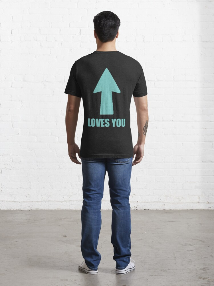 Alternate view of Loves you, Arrow Essential T-Shirt