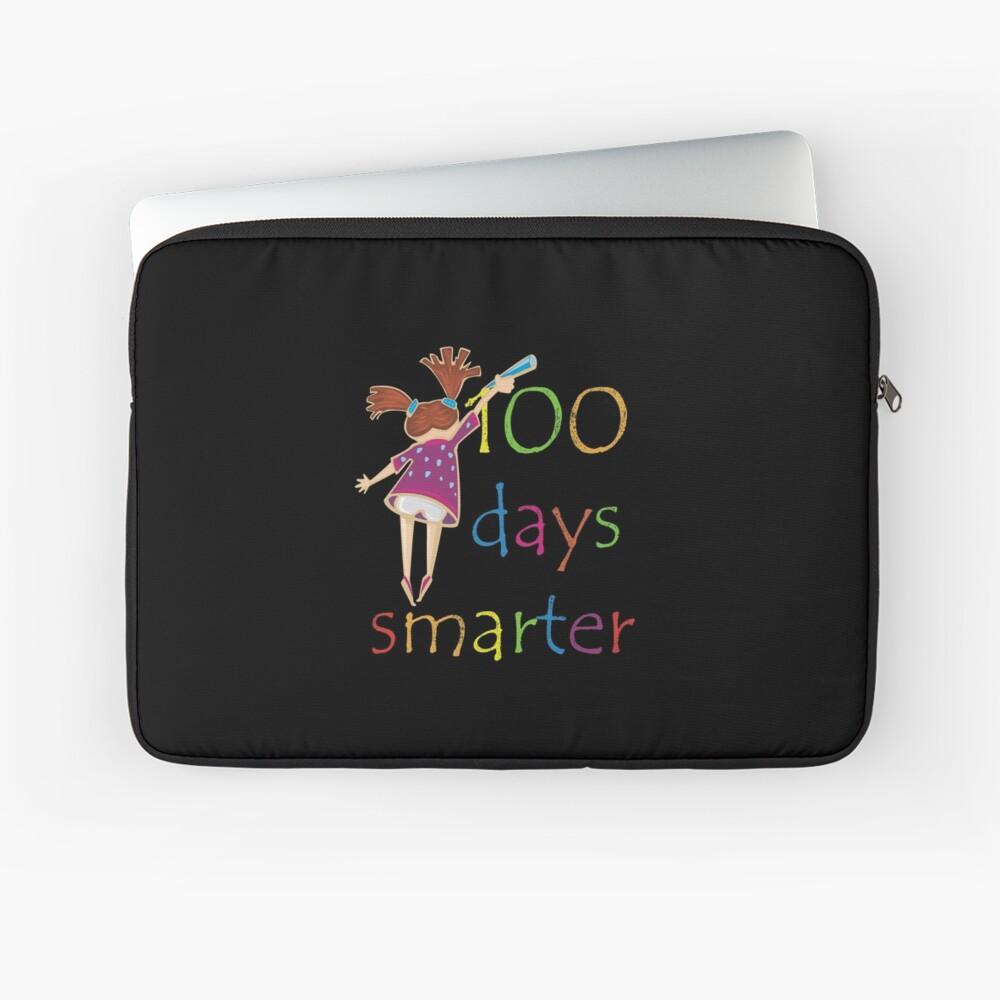 100 Days Smarter School Kindergarten Students Teachers Gift 100th Day Of Kindergarten School Laptop Sleeve