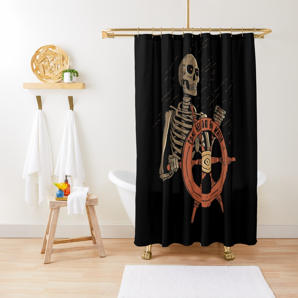 Come Hell Or High Water Shower Curtain