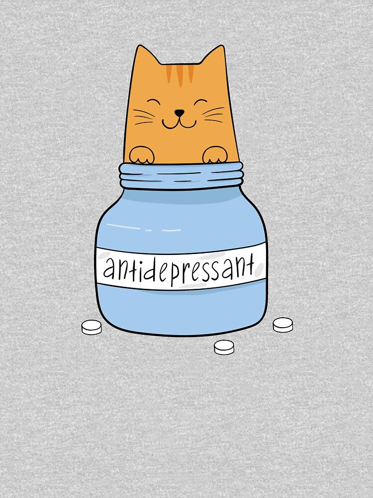 Cat antidepressant. Cat lover. by IrinaOstapenko