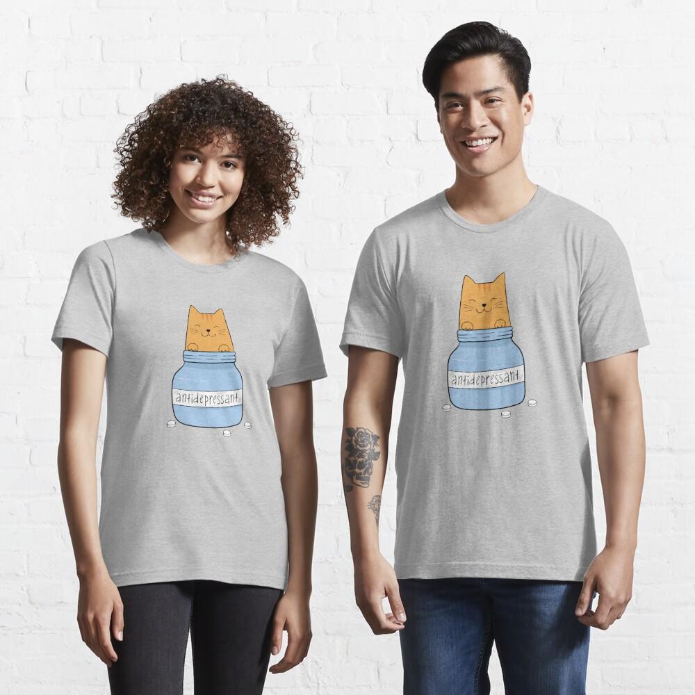Cat antidepressant. Cat lover. Essential T-Shirt