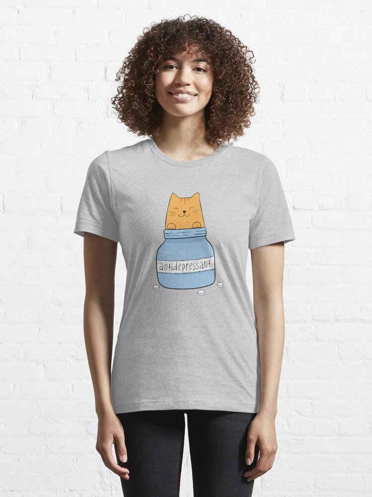 Alternate view of Cat antidepressant. Cat lover. Essential T-Shirt