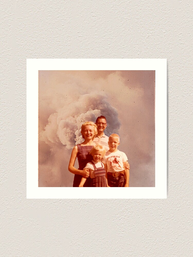 Alternate view of nuclear family  Art Print