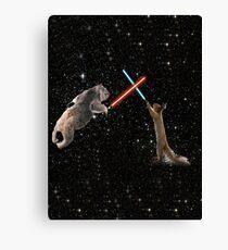 Star Wars the Koala strikes back Canvas Print