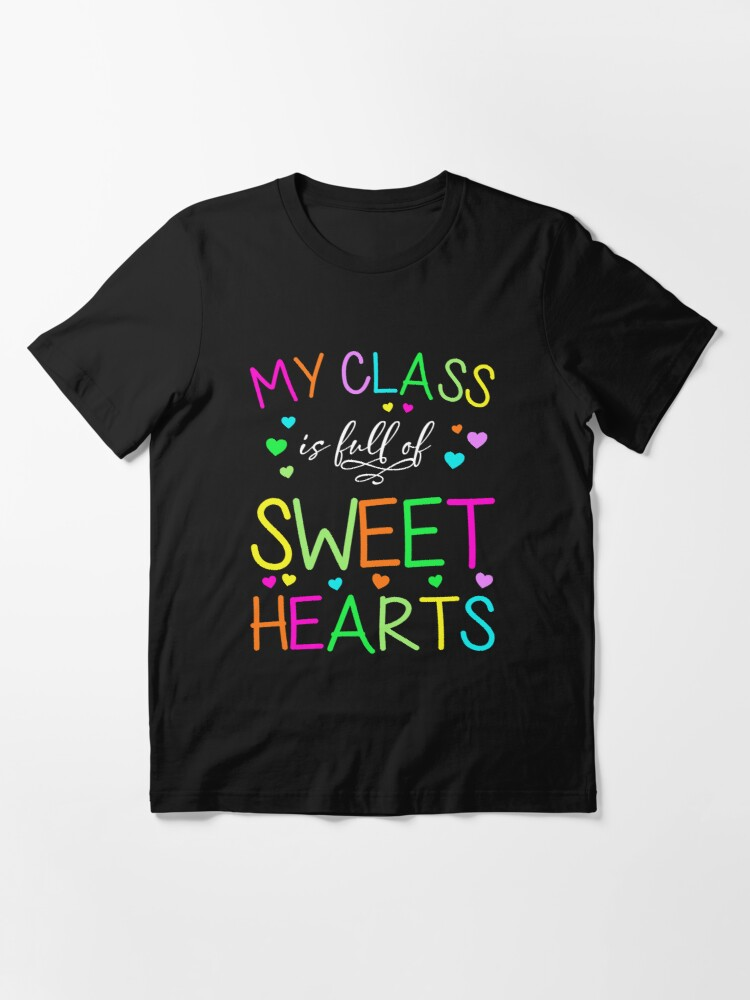 Alternate view of Valentines Day Teacher T-Shirt Love My Sweet Students  Essential T-Shirt