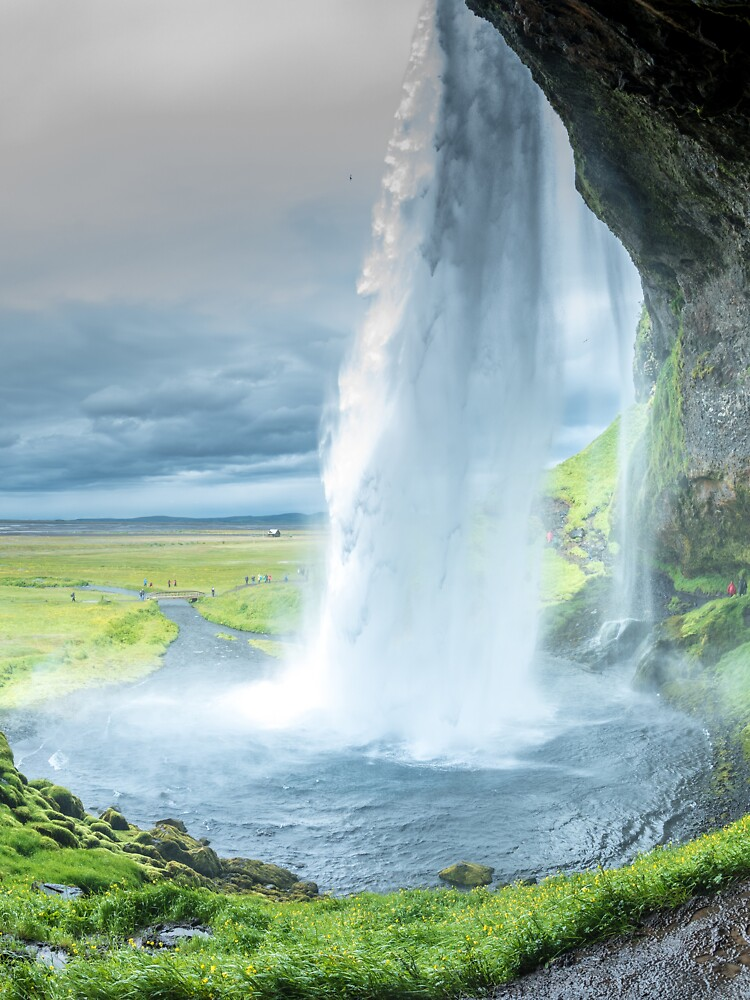Iceland Waterfall Landscape by Rittichai