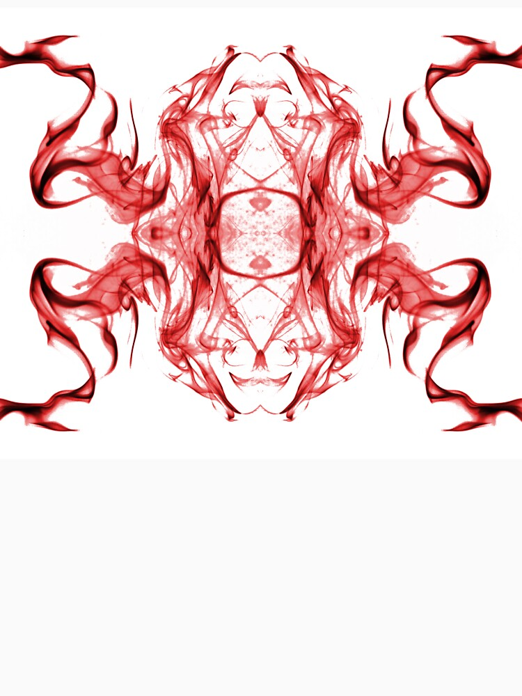 Smoke Abstract Art (1652/2_white/red) by DRSmokeArt