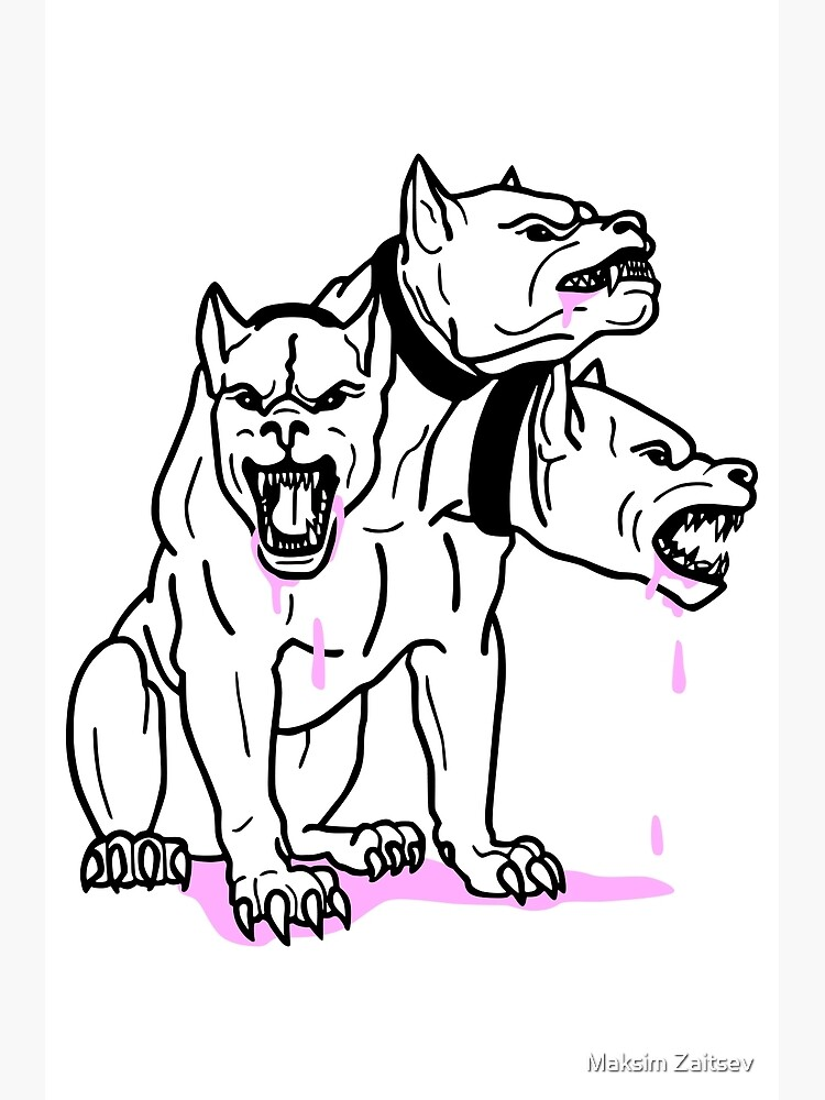Cerberus Pink Ink by MaxGraphic