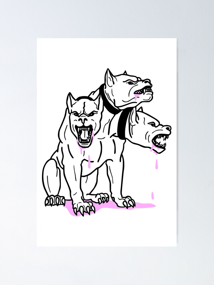 Alternate view of Cerberus Pink Ink Poster
