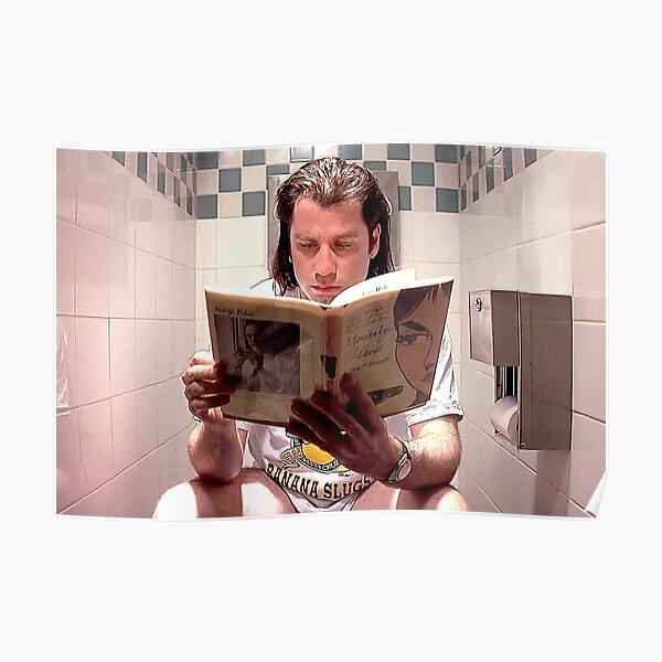 Póster de la película Pulp Fiction - Impresión de Vincent Vega - Baño divertido Póster