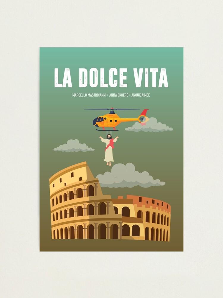 Alternate view of La Dolce Vita - Alternative Movie Poster Photographic Print