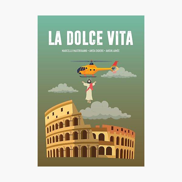 La Dolce Vita - Alternative Movie Poster Photographic Print