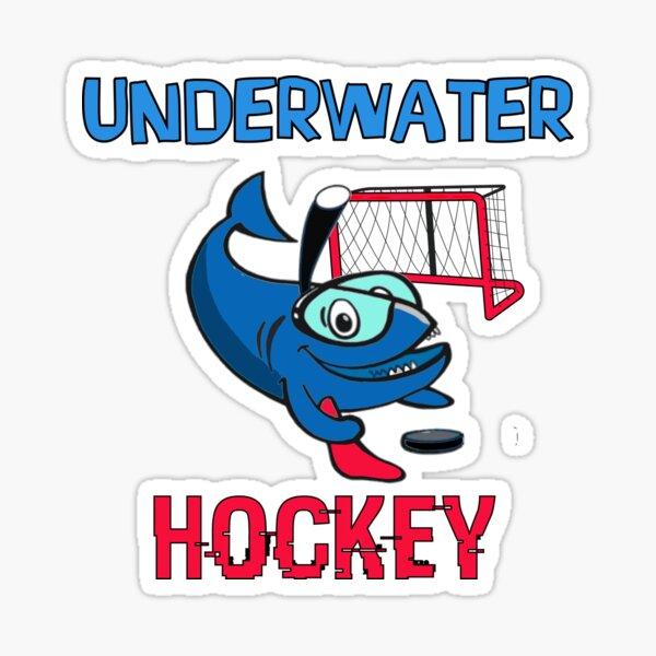UNDERWATER Hockey, Funny Shark Sticker