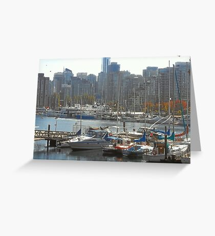 Boats & Buildings Greeting Card