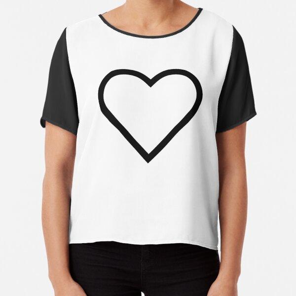 Smiley Heart, Emoji Chiffon Top