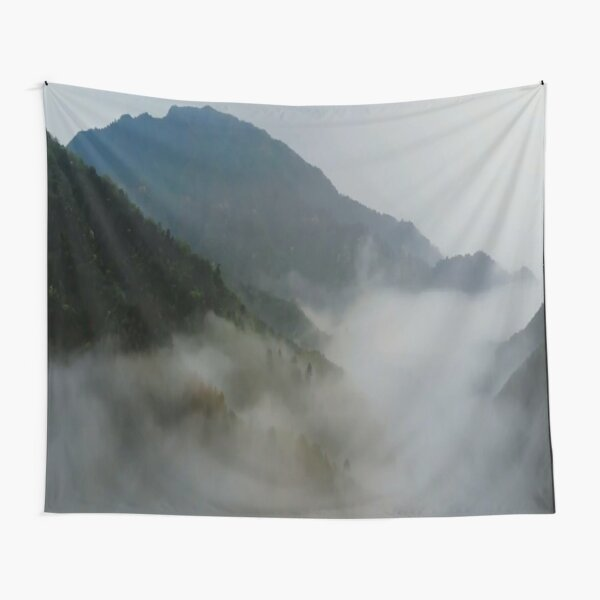 fog mountains Tapestry
