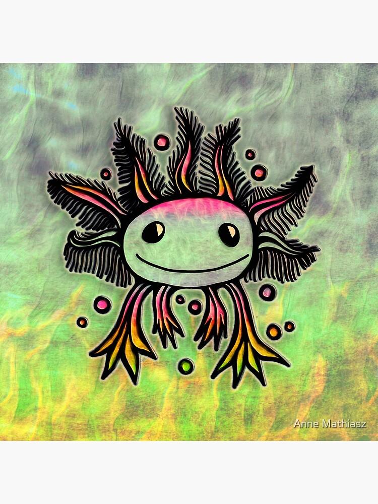 Axolotl, kawaii, cute, exotic, animal by boom-art