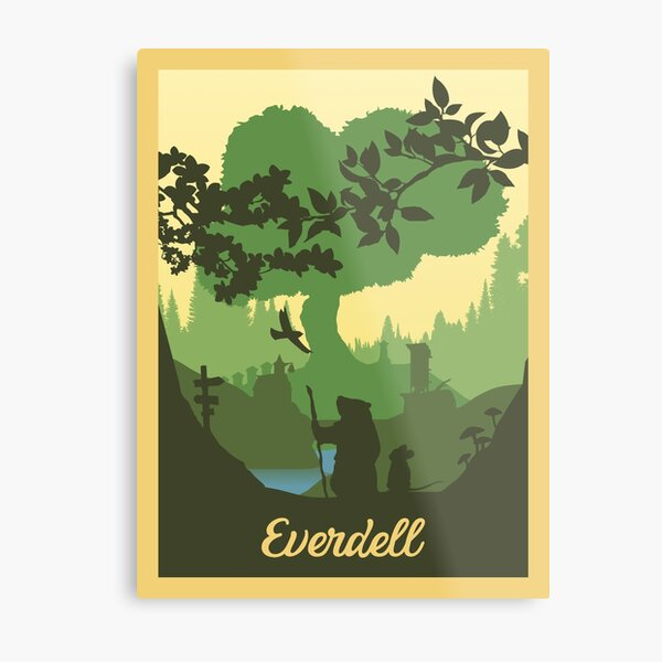 Everdell Board Game - Style d'affiche de voyage minimaliste - Gaming Art (autorisé) Impression métallique