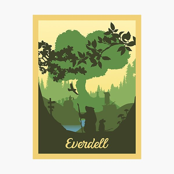 Everdell Board Game- Minimalist Travel Poster Style - Gaming Art (Authorised)  Photographic Print