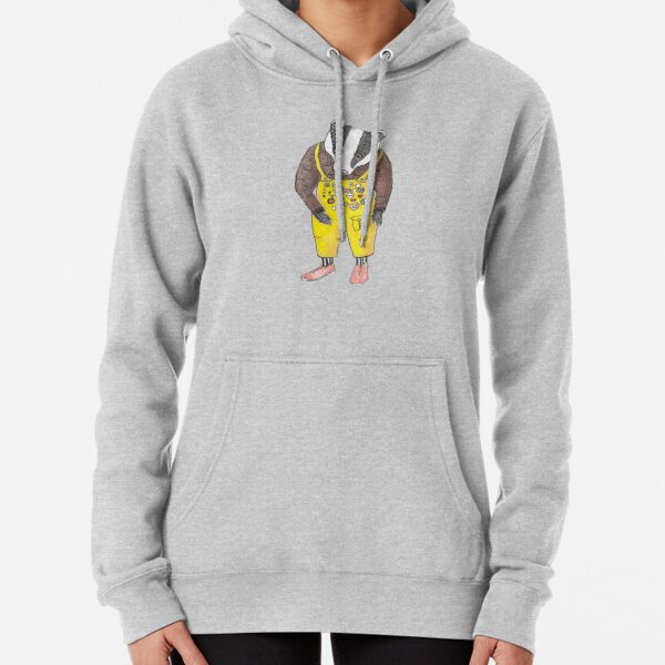 Badger Badges yellow dungarees Pullover Hoodie