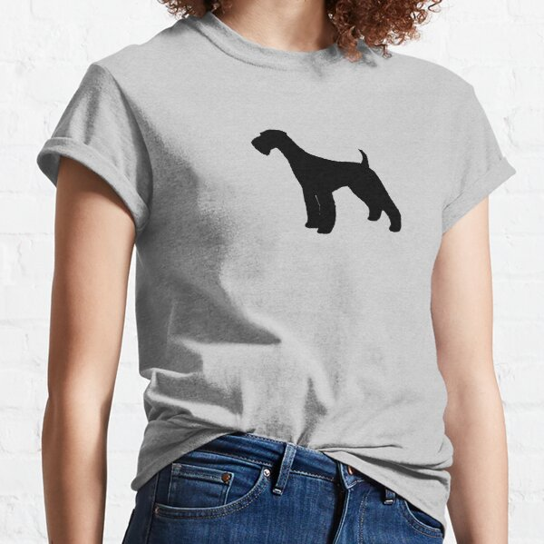 Airedale Terrier Silhouette(s) Classic T-Shirt
