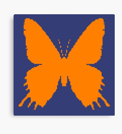 8-bit Simplex pixel Orange butterfly Canvas Print