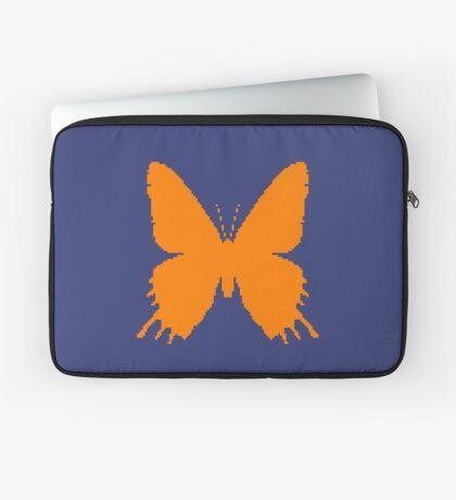 8-bit Simplex pixel Orange butterfly Laptop Sleeve
