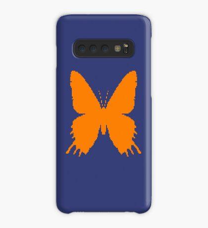 8-bit Simplex pixel Orange butterfly Case/Skin for Samsung Galaxy
