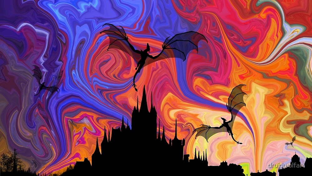 Dragons Night by druidwolfart