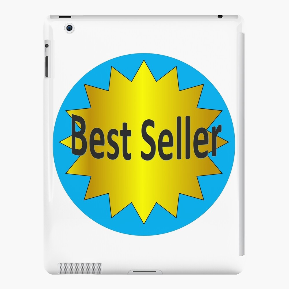 Funny Font says Best Seller with a gold star  iPad Case & Skin