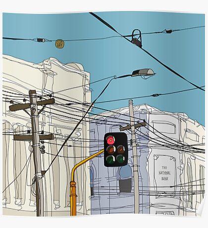 Melbourne Street Scene Poster