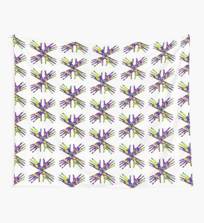 #DeepDream Painter's gloves 5x5K v1456325888 Wall Tapestry