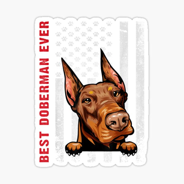 Portrait Details about  /Long-lasting Great Gift For Doberman Lover Stained Sticker Sticker