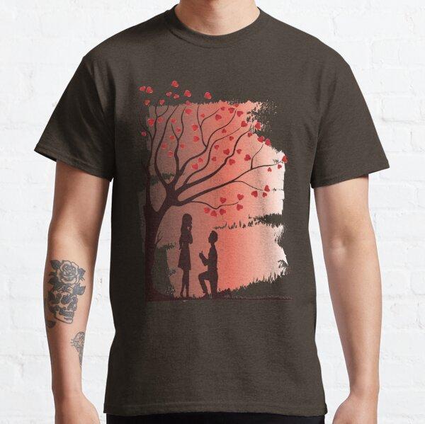 right Print san valentín hechizo te Señores valentin camisa t-shirt Weiss hechizo Sr