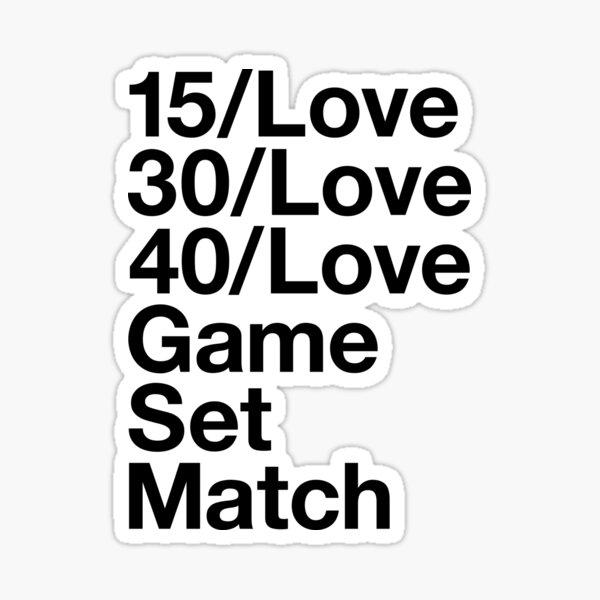 Tennis Lover Sticker
