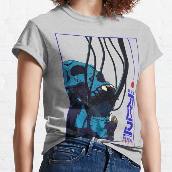 Skull Cyberpunk Cyborg Vaporwave Urban Style Classic T-Shirt