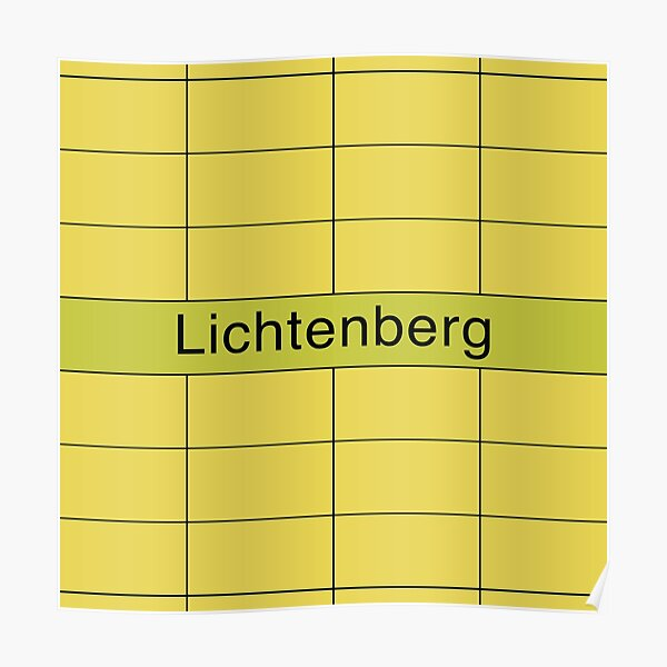 Lichtenberg Station Tiles (Berlin) Poster