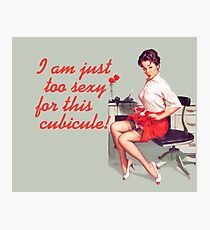 Sexy Office Pin-Up Mouse Pad Photographic Print