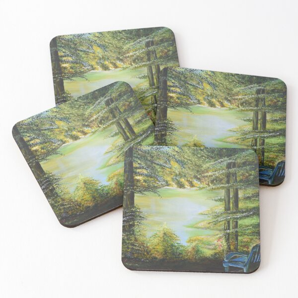 Top of the Path: Russian River, Sonoma, CA Coasters (Set of 4)