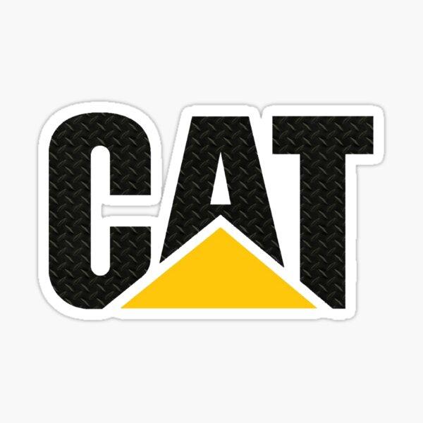 CAT Diamond Plate - black Sticker