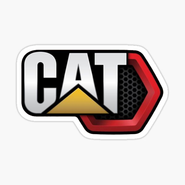 CAT Machine Sticker