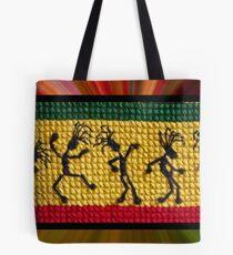 og lively reggae dancers Tote Bag