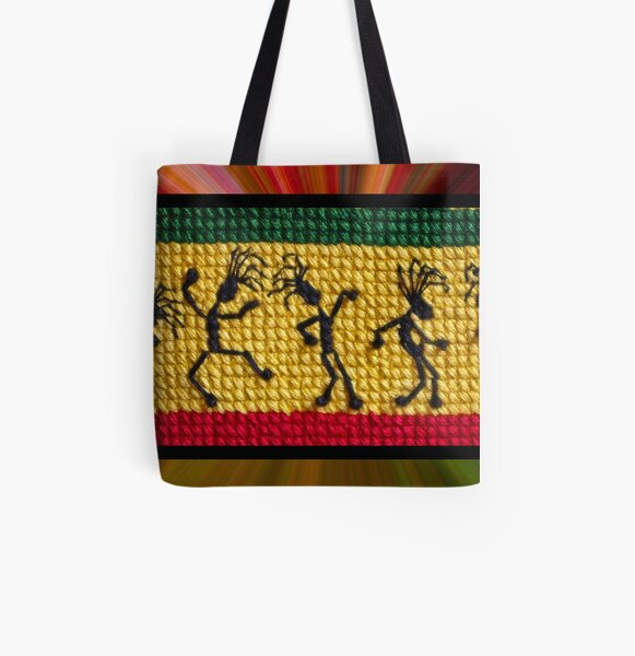 og lively reggae dancers All Over Print Tote Bag
