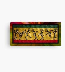 og lively reggae dancers Canvas Print