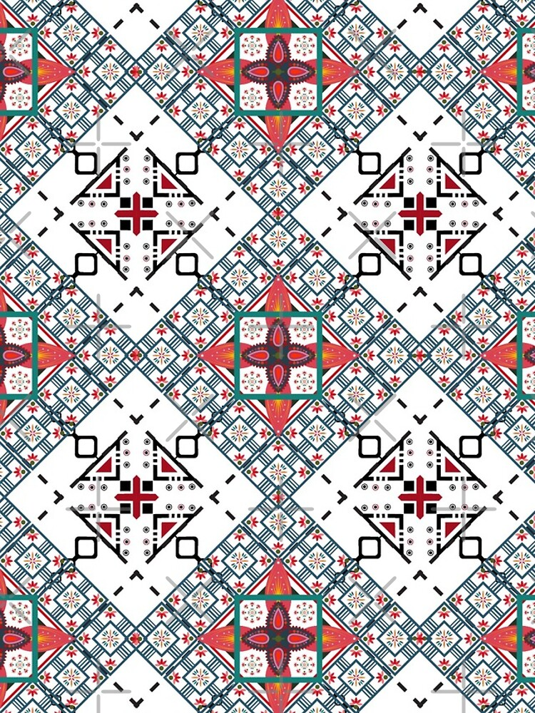 Crazy red black zigzag pattern by mydegage