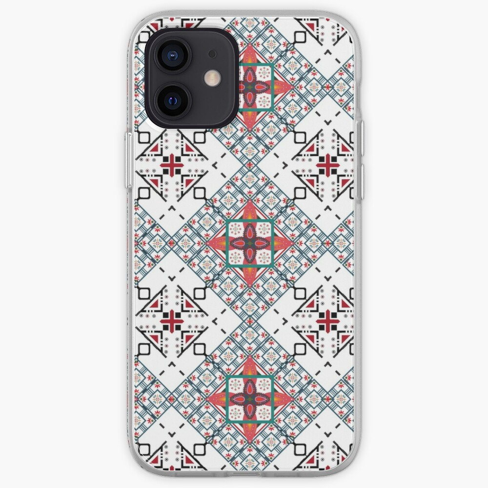 Crazy red black zigzag pattern iPhone Case & Cover