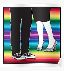 let's meet at the rainbow (two people awesome shoes) Poster
