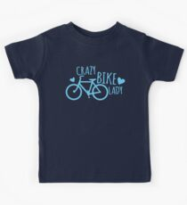 Crazy Bike Lady Kids Tee
